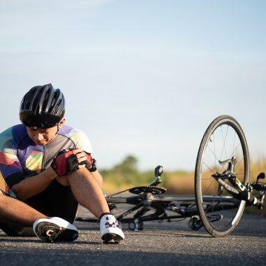 cyclist fell