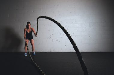 woman training with ropes
